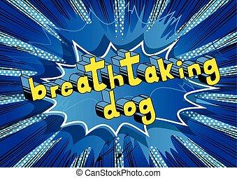 impresionante, palabra, -, perro, libro, cómico