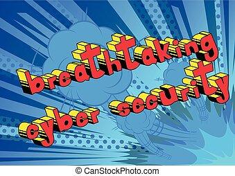 impresionante, seguridad, cyber