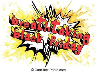 impresionante, viernes, word., -, estilo, libro, negro,...