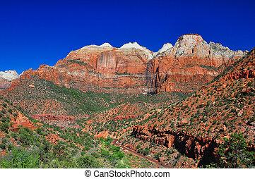impresionante, vista, de, sión, nacional, park.