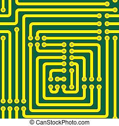 impreso, circuito, tabla