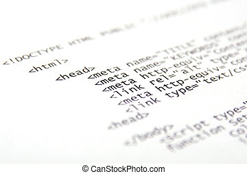 impreso, internet, html, código, -, tecnología, plano de...