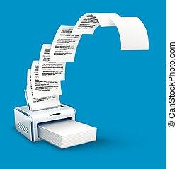 impresora,  copyspace, texto, impresión, copias, papel