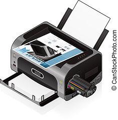 impresora láser, chorro