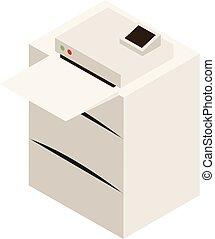 impresora, laser, oficina