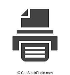 impresora, vector, icono