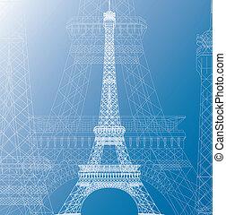 impressão azul, arquiteta