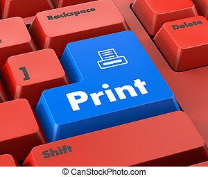 impressão, botão