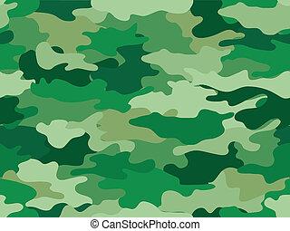 impressão, camuflagem, fundo, verde