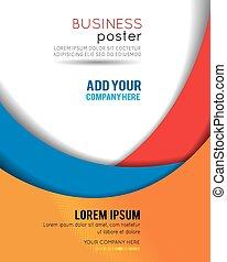 impressão, cobertura, revista, apresentação, publicar