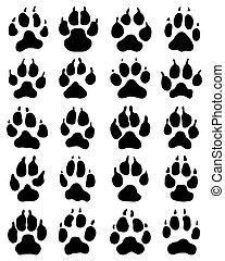 vetorial fundo pretas impressão gatos patas brancas