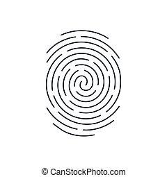 impressão digital, ícone