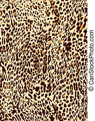 impressão, leopardo, animal, fundo