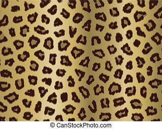 impressão, leopardo