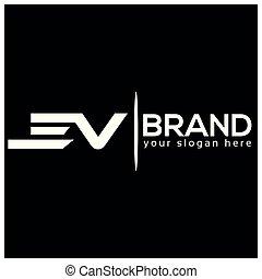 impressão, mercado de zurique, reliable., rapidamente, experiência., desenho, letra, v, logotipo, branca, tem, template.