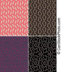 impressão, padrão, abstratos, seamless