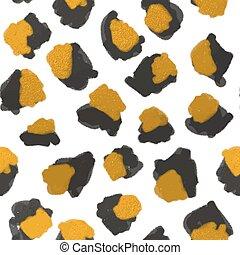 impressão, padrão, leopardo