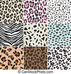 impressão, seamless, animal, tecido