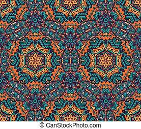impressão, tribal, geométrico, ornamento, étnico