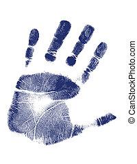 impressão, vetorial, /, mão