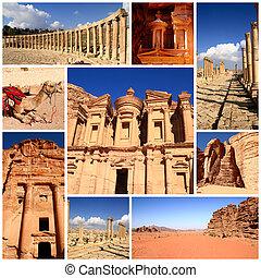 impressões, de, jordânia