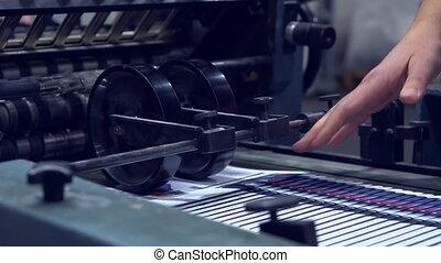 impression, équipement, usine