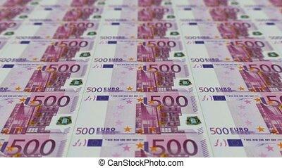 impression, argent, animation, euro, factures