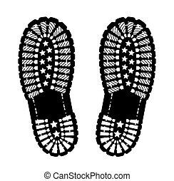 impression, chaussure