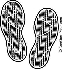 impression, chaussures