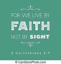 impression, corinthians, citation, nous, ou, pas, vue, bible, foi, affiche, 2, usage, vivant