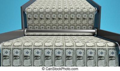 impression, dollars, renderind, nous, 3d, financier, crise