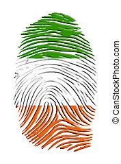 impression, drapeau, doigt, irlande