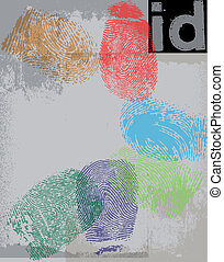 impression, id., vecteur, doigt, illustration