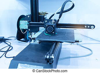 impression, imprimante, dimensionnel, machine, trois, 3d