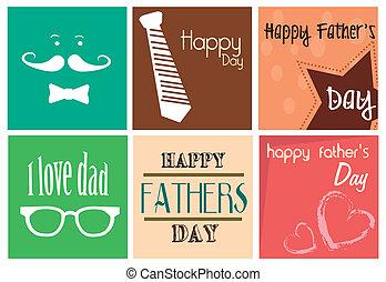 impression, jour pères, heureux