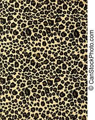 impression, léopard, tissu, texture