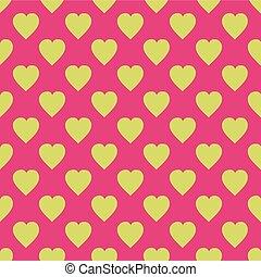 impression, modèle, hearts., envoyer à la casse, emballer, scandinave, style, cadeau, réservation, arrière-plans, plat, toile, tissu, patchwork