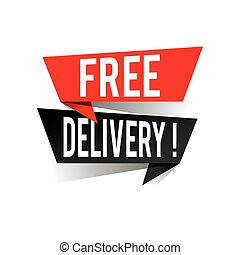 Modern design free delivery text on speech bubbles concept. Vector illustration