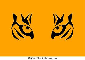 impression, oeil tigre
