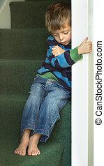 Impression of a sad neglected child.