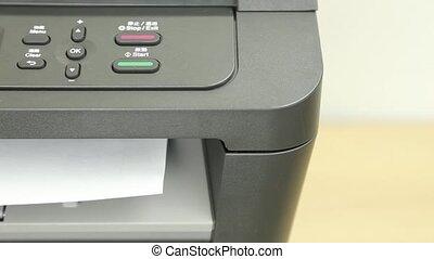 impression, pages, imprimante, vue