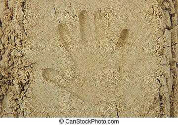 impression, sable, main