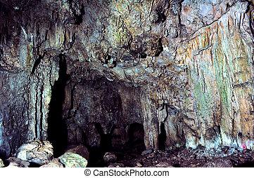 impressionante, melidoni, caverna, in, creta, grecia