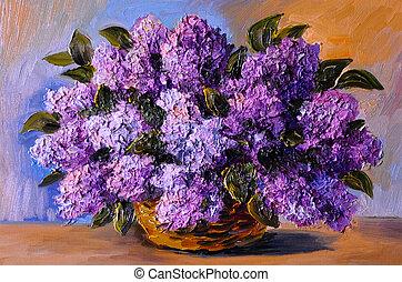 Impressionismo stile olio fiore viola astratto - Serenelle fiori ...