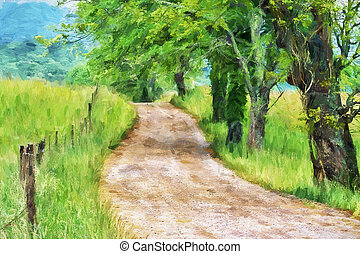 Impressionist art of the Great Smoky Mountains - ...