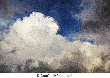 impressionist, skyn
