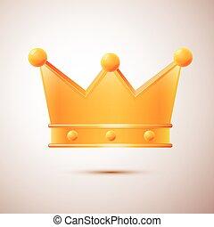impressionnant, vecteur, couronne, isolé
