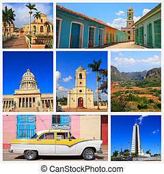 Impressions of Cuba, Collage of Travel Images