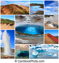 Impressions of Iceland, Collage of Travel Images
