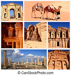Impressions of Jordan, Collage of Travel Images